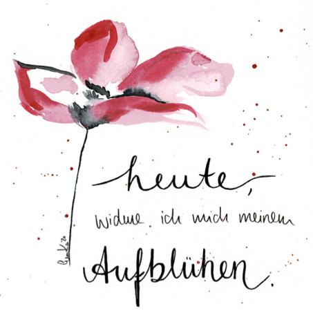 Aufblühen gemalt von Eva Kampfmann
